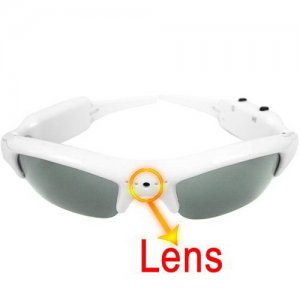 Stylish Design Easy 2 Button Control 4GB Spy Camera Sun Glasses